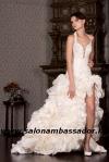 Короткие свадебные платья (фото, цены), платья со шлейфом...