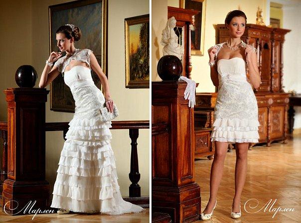 А так же представляем Вам новую коллекцию свадебных платьев-трансформеров с отстегивающимися юбками 2012г! Обращаем Ваше внимание, что данная коллекция